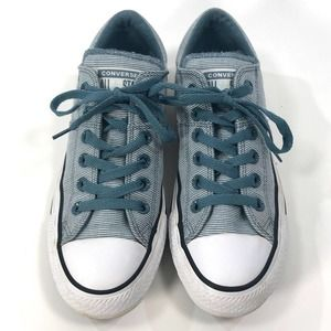 Converse Blue Pinstripe Low Top Sneakers Size 8